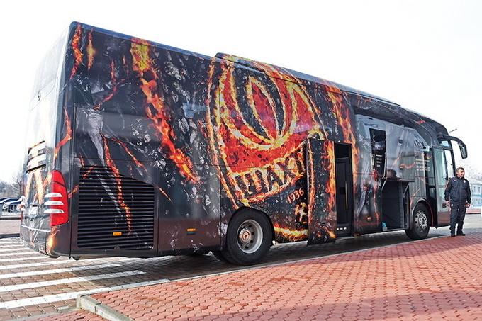 Шахтер представил обновленный дизайн автобуса накануне матча с Сельтой