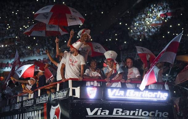 Ривер Плейт феерично отпраздновали победу в Кубке Либертадорес